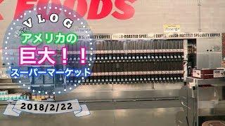 初めて行った巨大スーパーに感動! 【アメリカ生活ビログ】