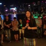 最愛「Tvb突擊採訪*全場大合唱*感動維港碼頭。」(2018-08-04)中國香港歌手彭梓嘉
