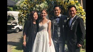 黎耀祥今晚同太太返港,話個婚禮好感動。