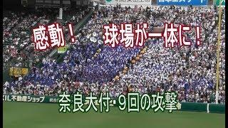 【感動!】奈良大付最終回の攻撃 応援曲「青のプライド」が球場全体に響き渡る!