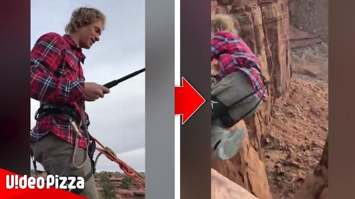 山頂から飛び降りハプニング動画が怖すぎる…世界のびっくり映像まとめ【Video Pizza】