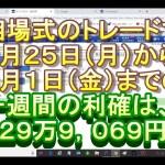 やっぱり凄い相場式、一週間で226万9,069円利確しました。
