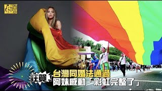 狂賀!台灣同婚法通過 阿妹感動「彩虹完整了」