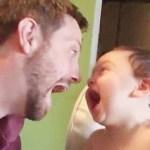 かわいいパパは赤ちゃんを笑わせる -かわいい赤ちゃんビデオ