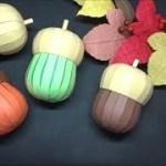(画用紙)秋の飾り 可愛い!どんぐりの作り方【DIY】(Drawing paper)cute! How to make an acorn