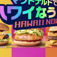 日本マクドナルド のCM マクドナルドでハワイなう! 「バーガー」篇「パンケーキ&フィズ」篇。