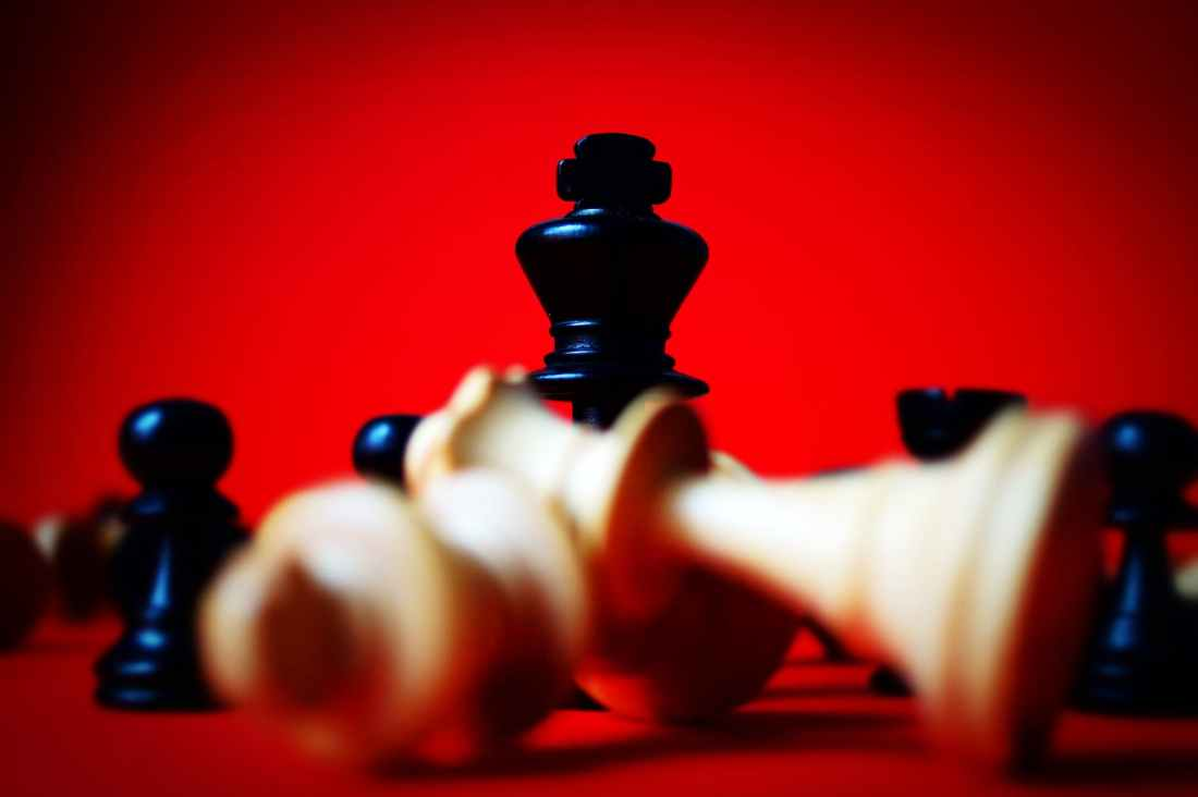 black chess chess pieces close up