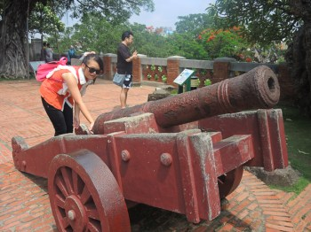 Canon at Anping Old Fort