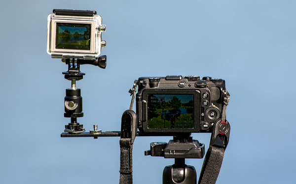 GoPro-and-small-camera-on-tripod