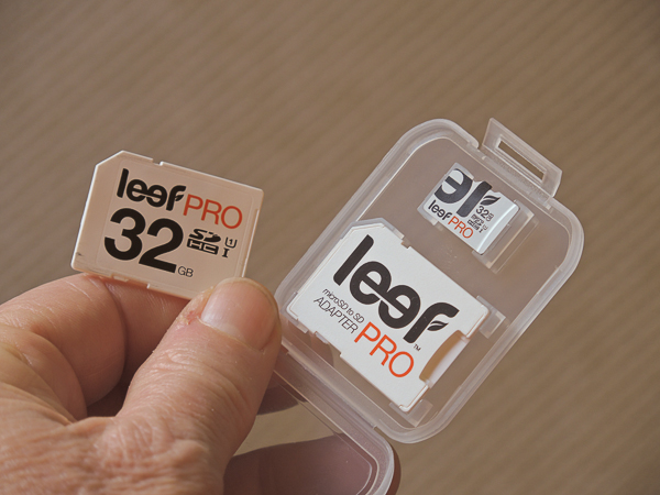 Leef memory cards outperform in wet, wintery weather