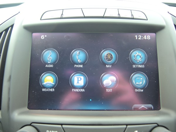 Infotainment center on the 2015 Buick Regal GS AWD