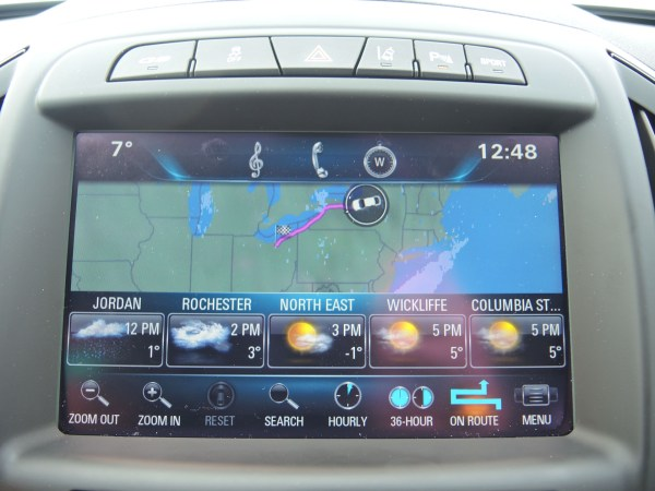 Gps screen on 2015 Buick Regal GS AWD