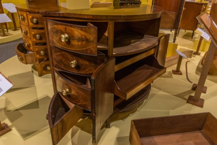 Demi-lune commode at Flynt Center of Early New England Life