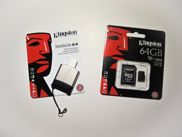 Kingston MobileLite G4 card reader and MicroSDXC card