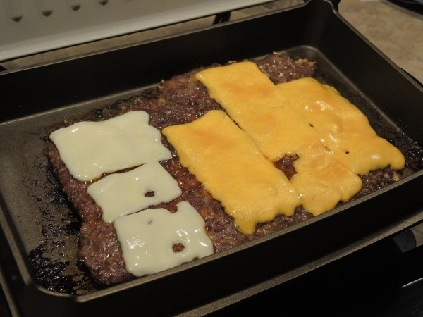 Dump dinner in the George Foreman Evolve grill with deep bake dish installed