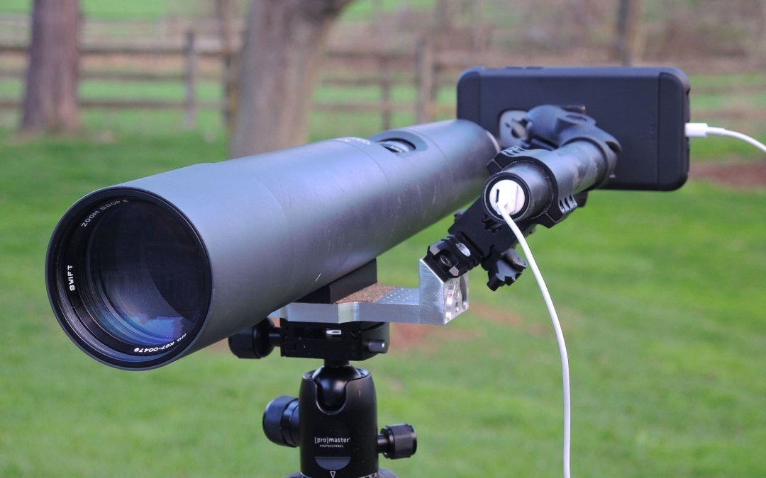 Smartphone Scope Mount – a new way to capture wildlife videos