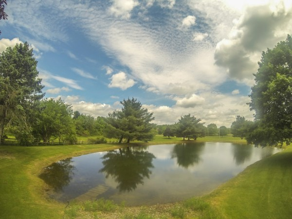 Polarizing filters help enhance skies and water.