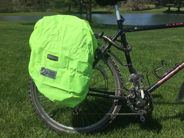 Pannier Backpack Convertible rain jacket in place