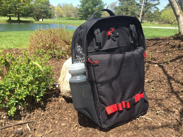 Pannier Backpack Convertible with water bottle