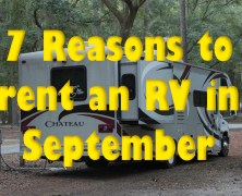 7 Reasons to rent an RV in September