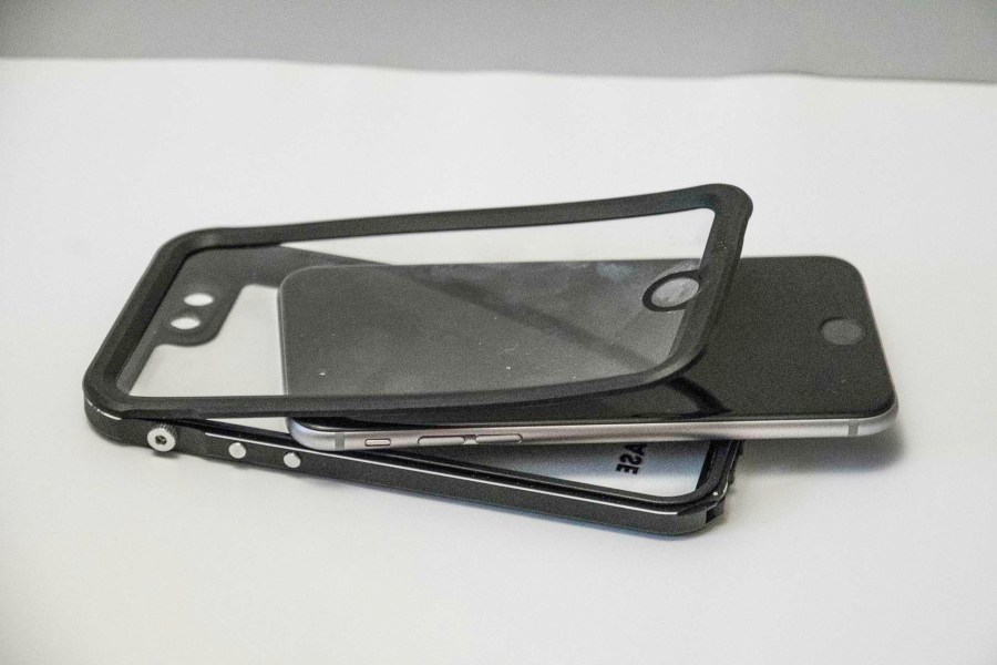 Hitcase Shield waterproof case slips open easily to add phone