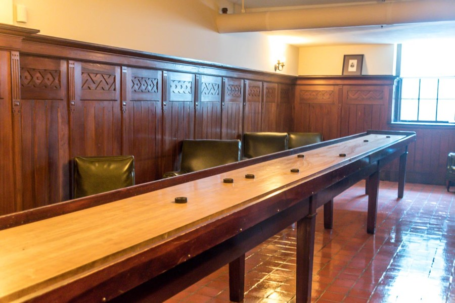 Shuffleboard room at Nemours Mansion and Estate