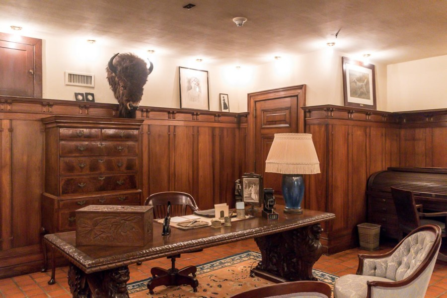 Basement office at Nemours Mansion and Estate
