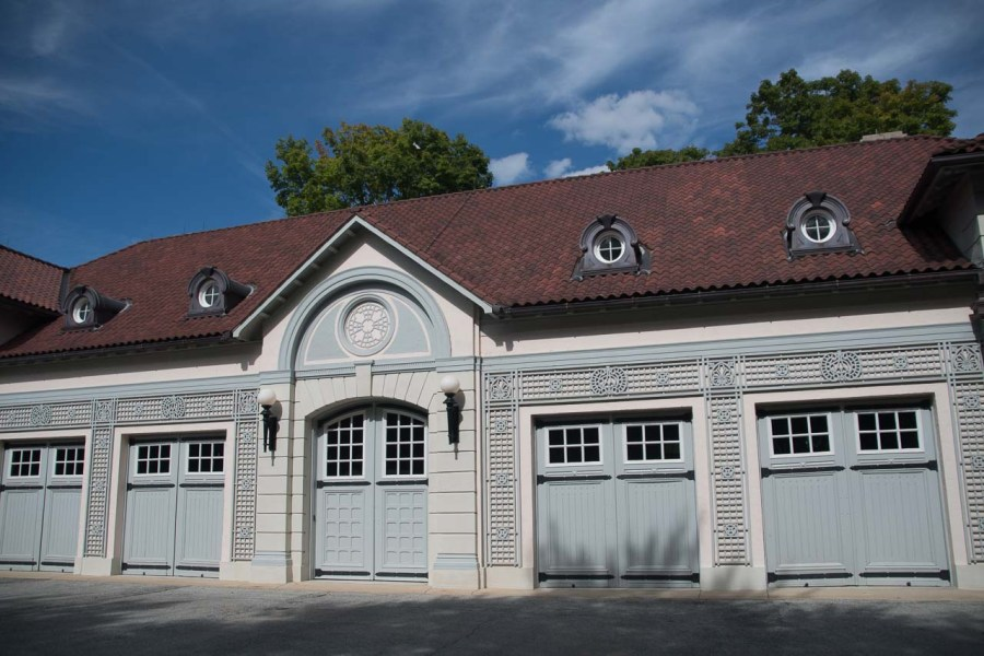 Chaffeurs garage at Nemours Mansion and Estate
