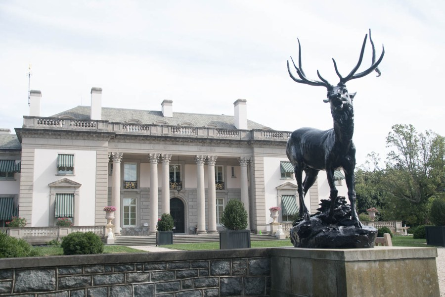 Great stag sculpture at Nemours Mansion and Estate