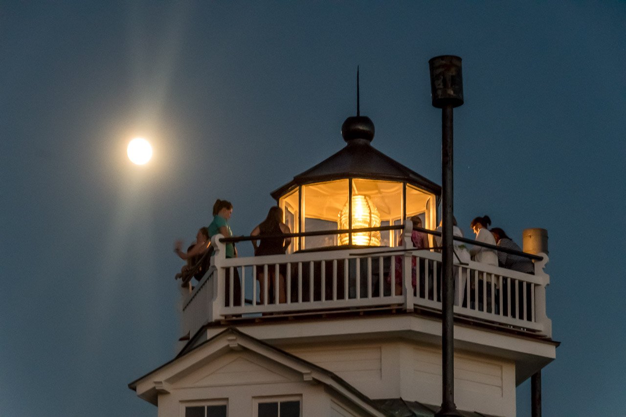 The famous Hooper Straight lighthouse on display at Chesapeake Bay Maritime Museum