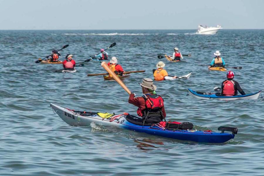 Kayaking fom South Bass Island State Park