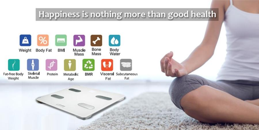 Smart Scale & Body Composition Analyzer measures 13 stats