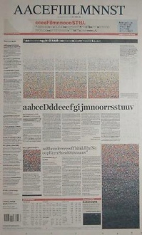 Alphabetical newspaper