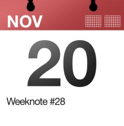 Weeknote #28