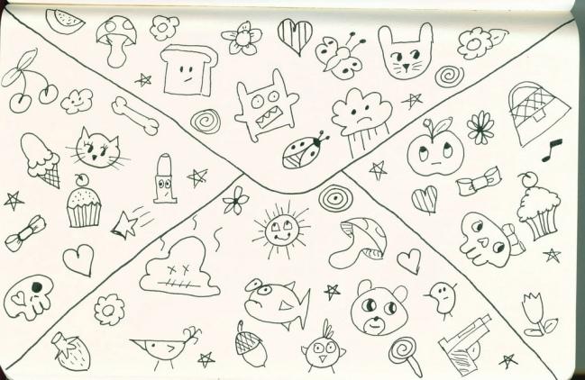 Wreck This Journal-Doodling Back of Envelope