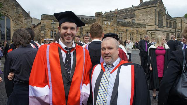 Dr. Doug with Prof. Steve Higgins