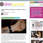 Digital Literacy, Identity and a Domain of One's Own [DML Central]