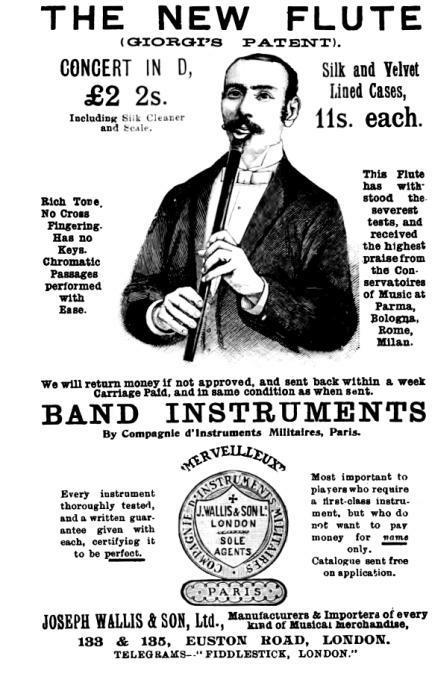ad for and early low D tinwhistle
