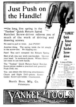 old ad for a Yankee screwdriver
