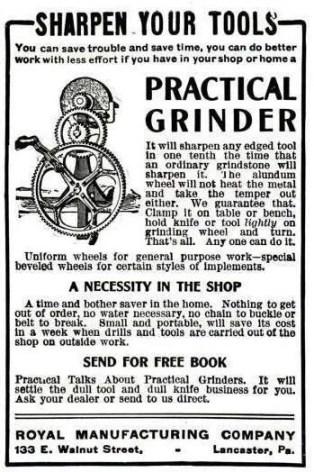 old ad for a Royal grinder