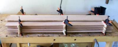 resawn cherry dulcimer tops, backs and sides