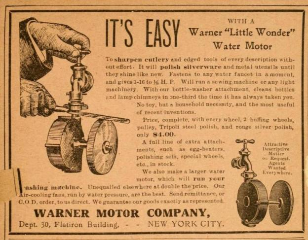 "Warner ""Little Wonder"" Water Motor"