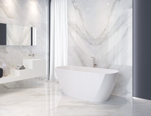 Coverlam Large Format Tiles for your designer bathroom.