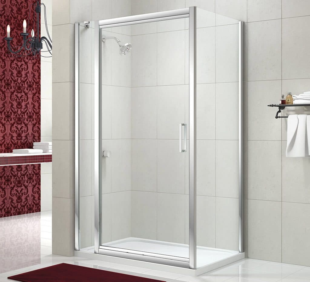Merlyn Series 8 Infold Door with Silver Frame.