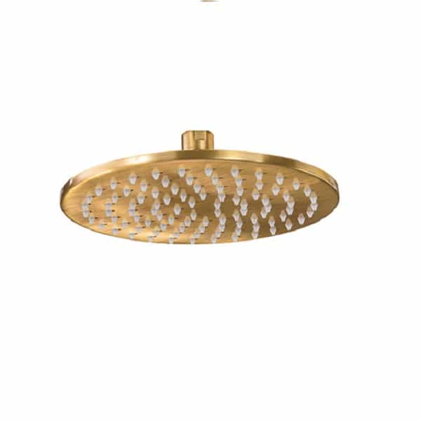 Abode Serenitie Antique Brass  Circular Combined Wall Outlet & Handshower & Bracket  AB2720