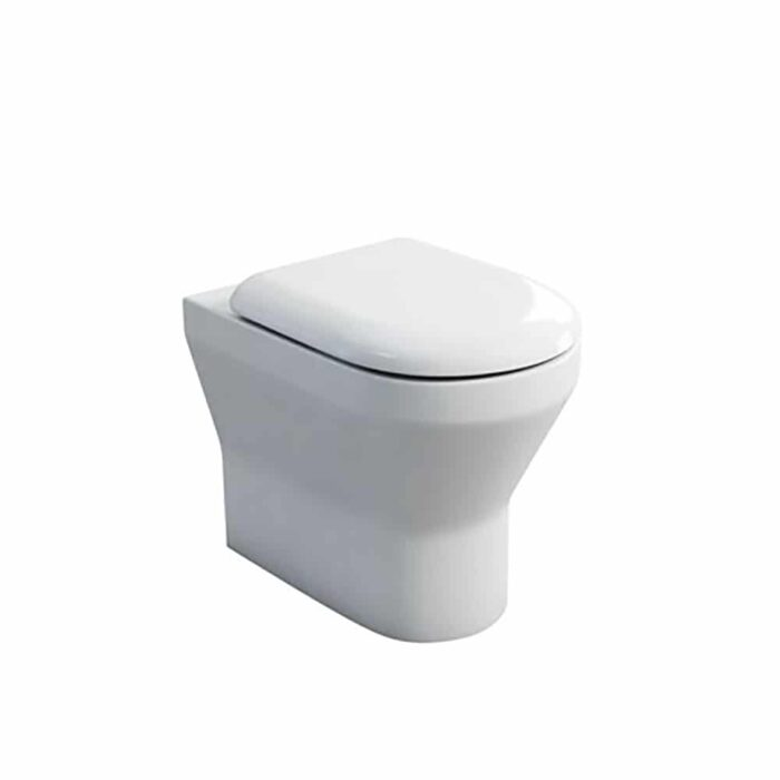 301962+SS1026 Britton Curve Back to Wall Toilet White