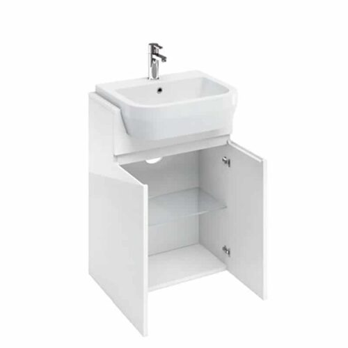 AD37W Britton 2 Door Basin Unit White