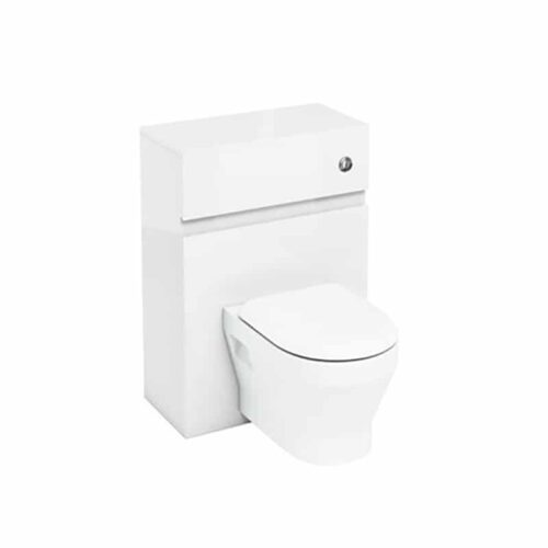 AW31WW33A Britton Toilet Unit with Push Button for Wall Hung Toilets White