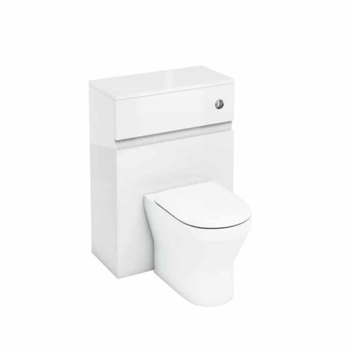 AW31W Britton Toilet Unit with Push Button for Back to Wall Toilets White