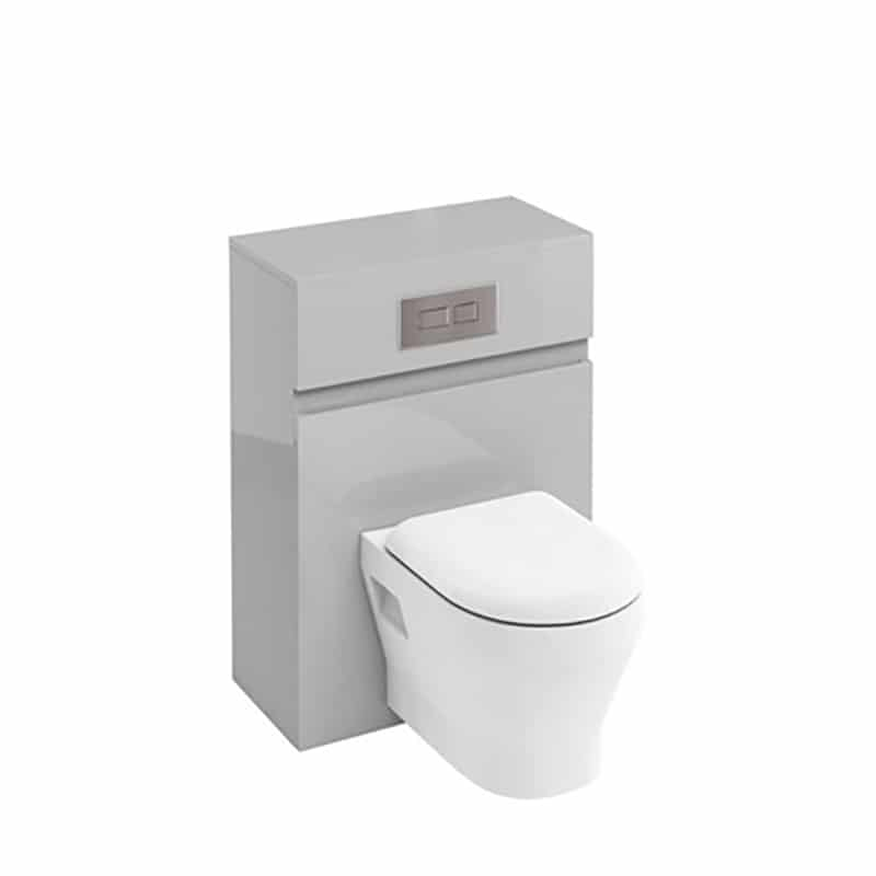 AW32LW33A Britton Toilet Unit with Flush Plate for Wall Hung Toilets Grey